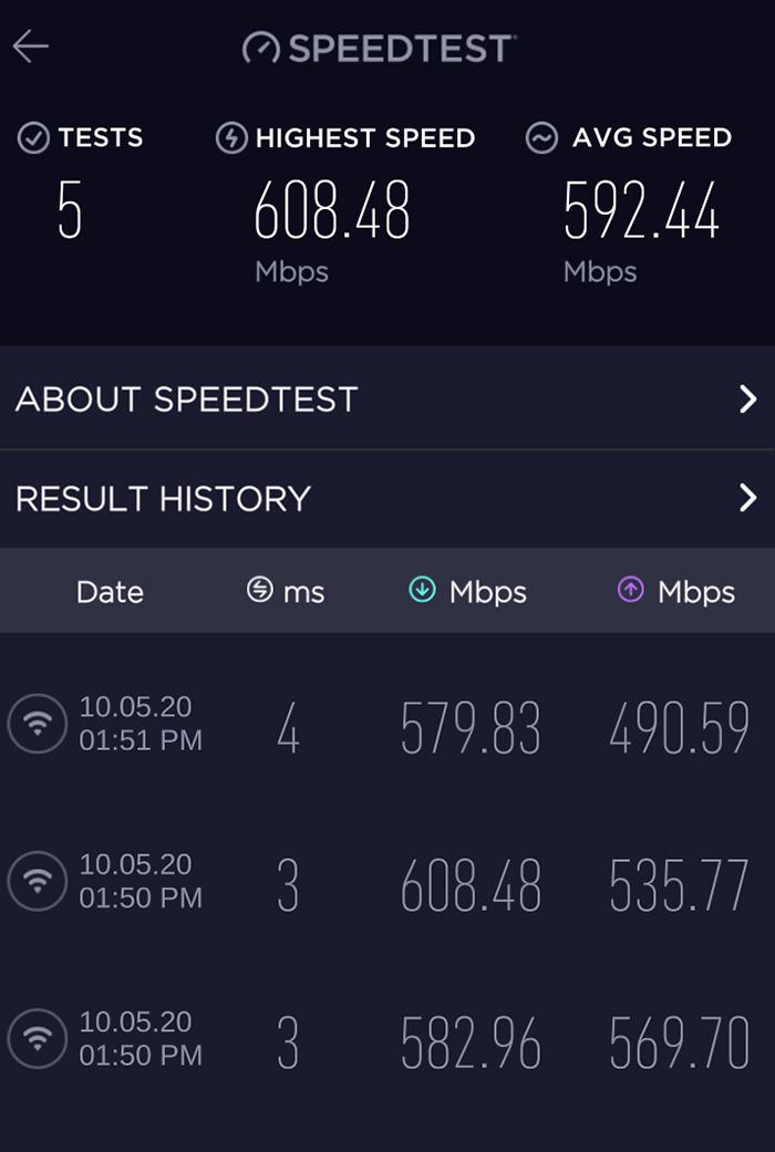 Orbi Mesh m wifi fra router i rom ved siden av