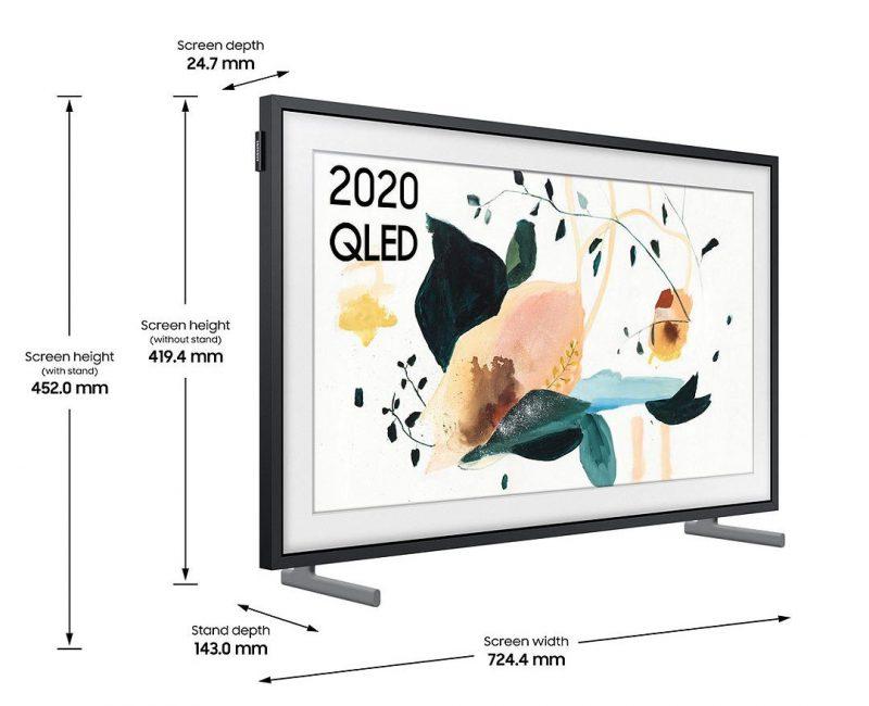Samsung The Frame 32 measurements